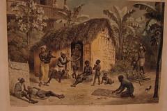 HABITAO DE ESCRAVOS (Slaves habitation)  - Quadro de Johann Moritz Rugendas - 1802-1858 (Ccero R. C. Omena) Tags: quadro antiga pintura racismo absurdo colonialismo escravido preconceito discriminao