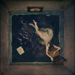 flood (brookeshaden) Tags: brookeshaden fineartphotography conceptualart conceptualseries fineartseries fourthwall 4thwall joanneartmangallery floodedroom trapped flood