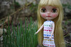 Garden Tales: Elizabeth likes spring onions. (yotsub4) Tags: blythe ブライス カスタムブライス ooakblythe customblythe garden springonion herb pennyprecious translucentblythe