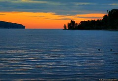 The Mouth of South Bay at Munising MI at Sunrise (PhotosToArtByMike) Tags: munising michigan mi southbay grandisland sandpoint munisingmichigan sunset upperpeninsulaofmichigan upperpeninsula up uppermichigan lakesuperior