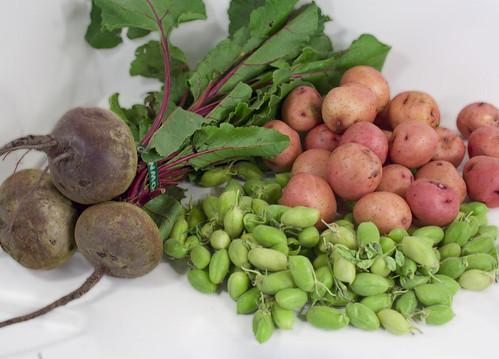 potatoes garbanzo beets
