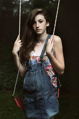 no way home [explored] (marisa chafetz) Tags: riley sad marisa swing overalls farmer plaid larkin abused chafetz