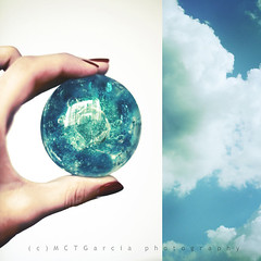 I've got the whole world in my hands (ilovestrawberries (Carmi)) Tags: world blue sky diptych dip collaboration brinks ilovestrawberries mctgarcia vwynx