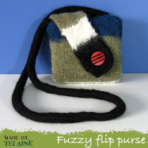 Fuzzy flip purse