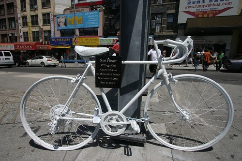 Tragic and powerful reminder of a killed cyclist in New York...