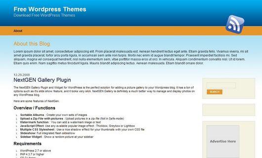 WordPress简洁主题