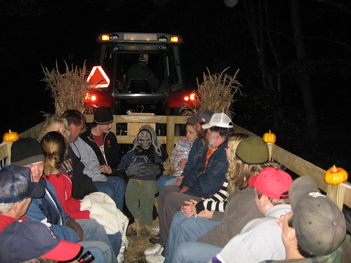 douthat state park halloween haunted forest hayride