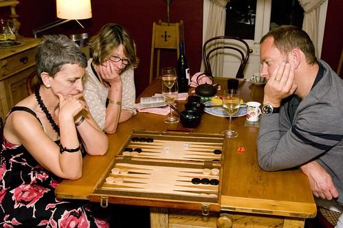 Backgammon at home