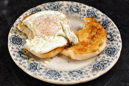 Egg on an English muffin
