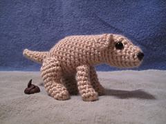 Pooping Dog 2 (spsandsteel) Tags: dog puppy crochet dump crap poop doggy poo amigurumi doggies pooping doodoo
