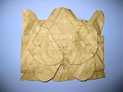 Patterned Tessellated Butterfly (Yureiko) Tags: butterfly paper origami papillon mariposa papier tessellation paperfolding elephanthide papierfalten elefantenhaut yureiko