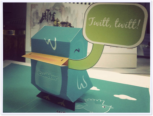 手工活:Twitter Bird 纸玩偶 by rikulu, on Flickr