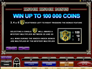 The Osbournes slot machine door knocker scatter symbol