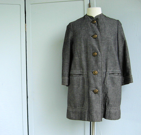 jacket with nautical buttons