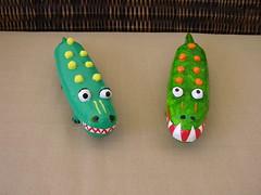Enfeite de mesa - Festa Safari (Kika 2002) Tags: party zoo artesanato craft crocodile centerpiece festa papier mache jacar papelmache safariparty enfeitedemesa festasafari