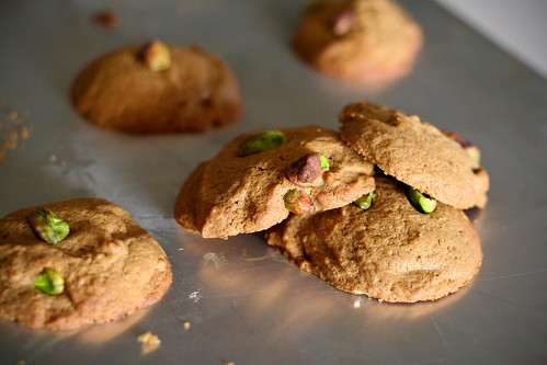 Spiced Olive Oil and Pistachio Cookies