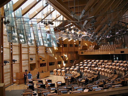 The Scottish Parliament Debating Chamber