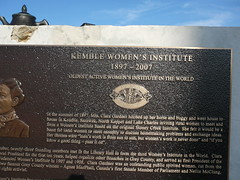 Kemble plaque to Women's Institute