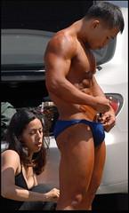 14 (bb-fetish.com) Tags: muscle posing posers trunks bodybuilder bulge