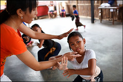 dance lesson - Bali (Maciej Dakowicz) Tags: sea bali art pose children indonesia dance student asia traditional teacher practice ubud blahbatuh souheasasia