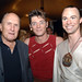 Robert Duvall poses with Cavalia Performers VIctor Zaitsez (center) and Jesse Lee Cooper