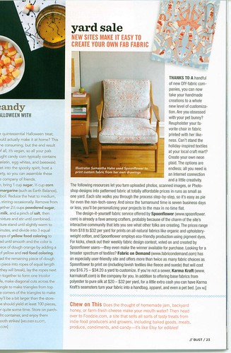 My fabric design/chair in Bust Magazine