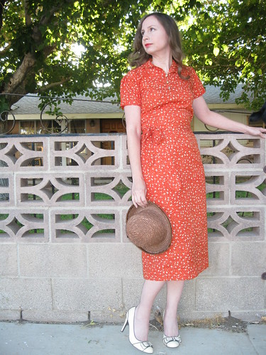 1940's Style Apron Dress
