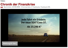 DerWesten: Chronik der Finanzkrise (ZDF-Video) mit Werbung