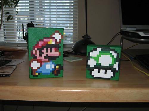 8-bit Mario + Mushroom