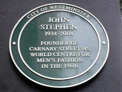 Photo of John Stephen green plaque