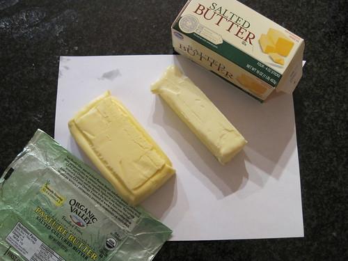 Organic Valley Butter vs. Kroger Butter
