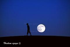 Goodbye Moon (Azaga ) Tags: sunset moon man loss child desert abraham stairway libya grief ghadames desertfestival       sabha   adesert ameeting daraj   colorphotoaward     justbegin       tothemeeting aezagp theeyesoflibya tnrfestival