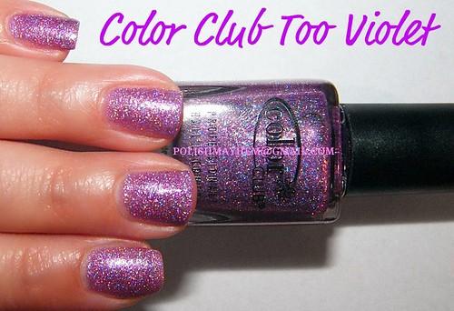 Color Club Too Violet