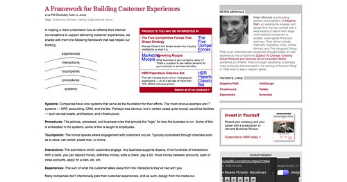 A Framework for Building Customer Experiences - Peter Merholz - HarvardBusiness.org_1256483919077