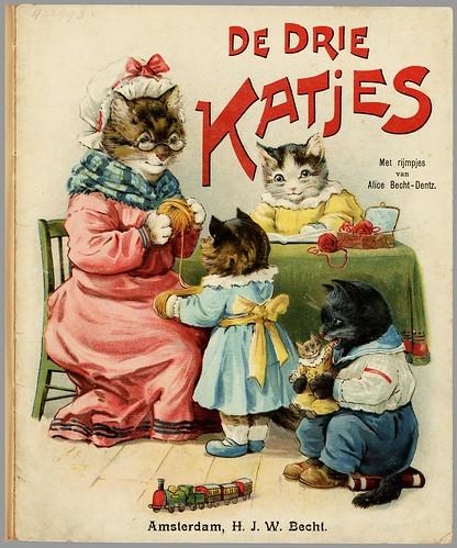De drie katjes - met rijmpjes van Alice Becht-Dentz, 1905