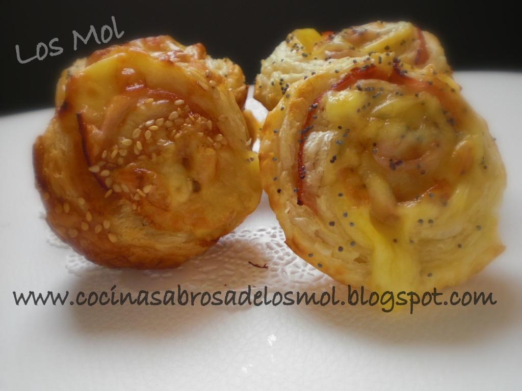 espirales de jamon y quesomol