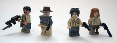 Post-Apocalyptic Diner Survivors (Titolian) Tags: road fence post lego telephone diner pole guns zombies radar apocalyptic survivors apoc