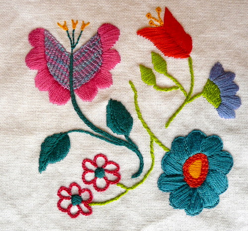 Tea Towel Stitching by Kitten Wrangler