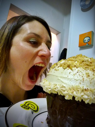 my even bigger piehole with a giant cupcake