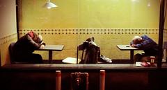 Versus ? (dzpixel) Tags: city travel sleeping food man men night america canon fight downtown mtl candid poor snap burgerking midnight northamerica combat quick economy versus dz riceworld marsan crisys samlam dzpixel flickrunitedaward amkerika