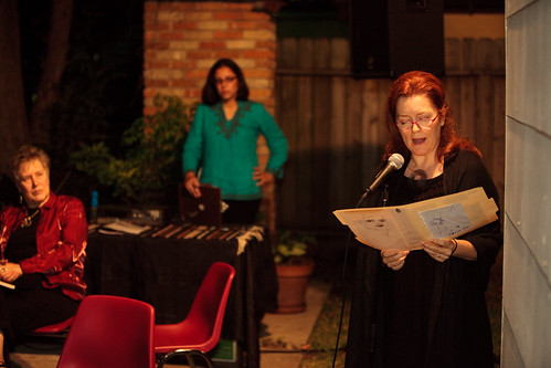 Christa Forster on open mic