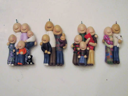 Customfamily portrait ornaments in progress
