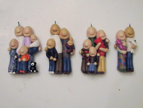 Customfamily portrait ornaments in progress