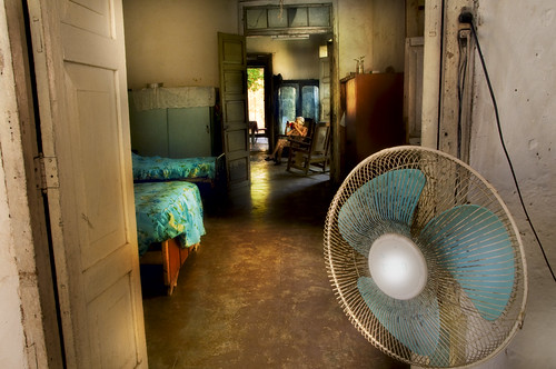 Woman and Fan
