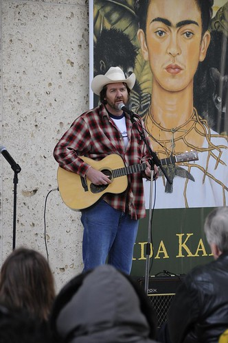 """Singers And Songwriters. Bruce Robison performs as part of the Poetry on the Plaza event """"Singers and Songwriters"""" at the Harry Ransom Center on December 2, 2009."""