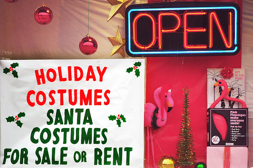 All Your Holiday Needs: Santa Costumes, Pink Flamingos and Drugs
