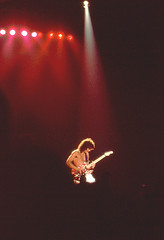 Eddie Van Halen 1981 (Taylor Player) Tags: white david black alex rock les ball roth paul drums lights star michael concert brothers bass guitar live stripes stage band peavey amp rude siblings marshall destroyer fender solo lee 80s yamaha 70s anthony roll eddie drumming van 1970s ernie 1980s gibson strat halen drummers ludwig kramer cymbals danelectro wolfgang ibanez ampeg medals charvel paiste
