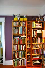 Outgrowing our bookshelves: before