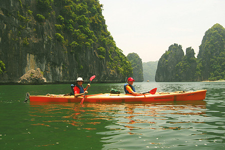 Kayaking tour in Halong Bay,  Vietnam