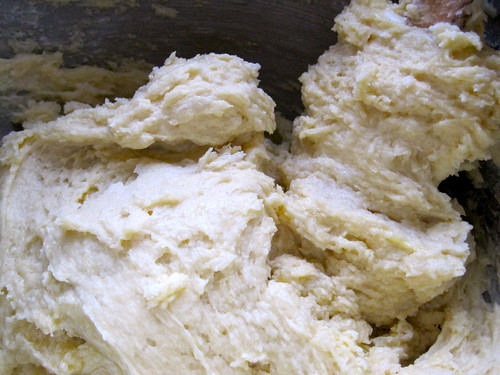almond pound cake: mixing the batter